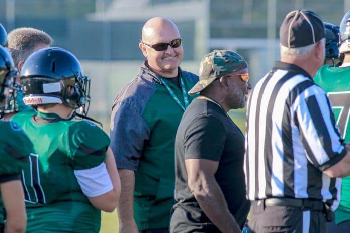 Weeki Wachee Football Coach Chris Cook. 2019 was his first season as the head coach for the program.