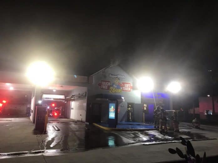 Commercial Fire at Palm Island Car Wash