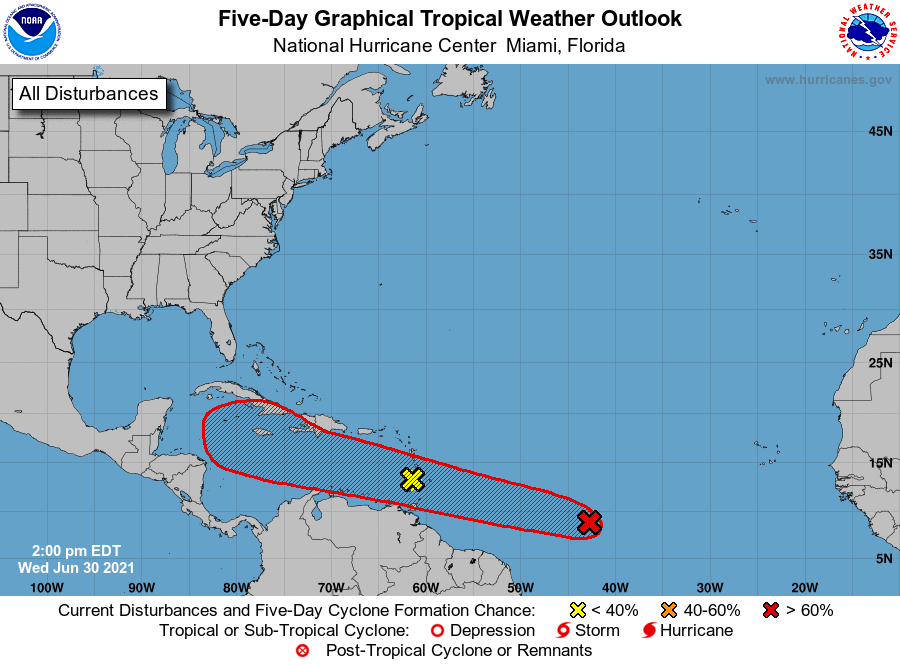 Five Day Graphical Tropical Weather Outlook