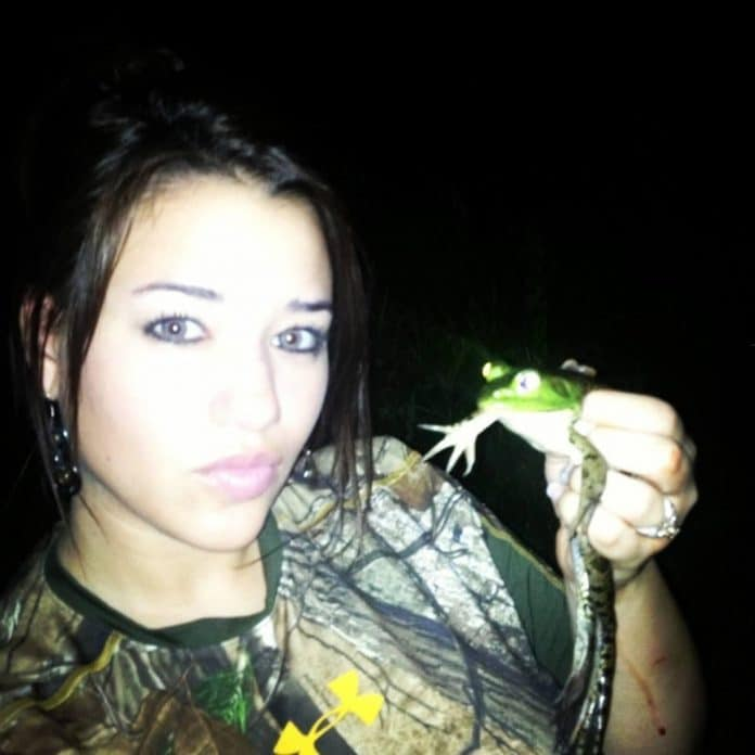 One of Toby's favorite froggers with a bullfrog headed to the skillet