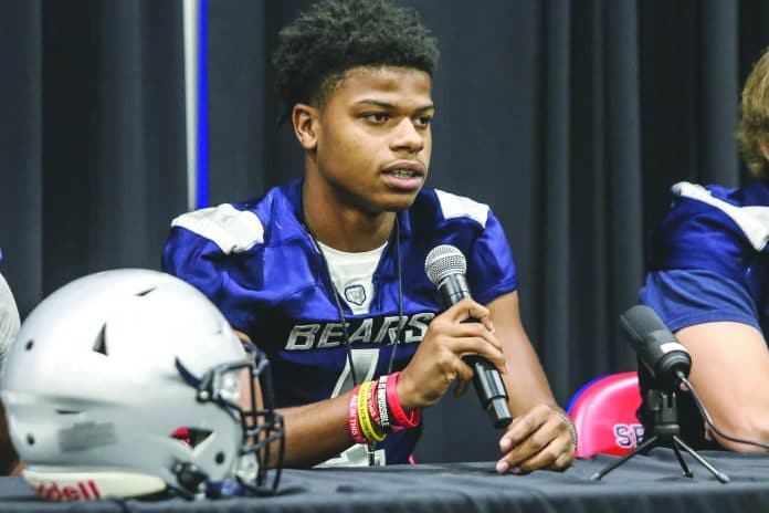Keyshawn Simmons at North Suncoast Media Day. Photo by Alice Mary Herden