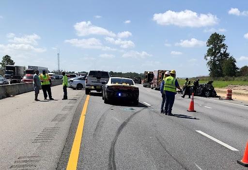 Spilled coffee causes three car crash