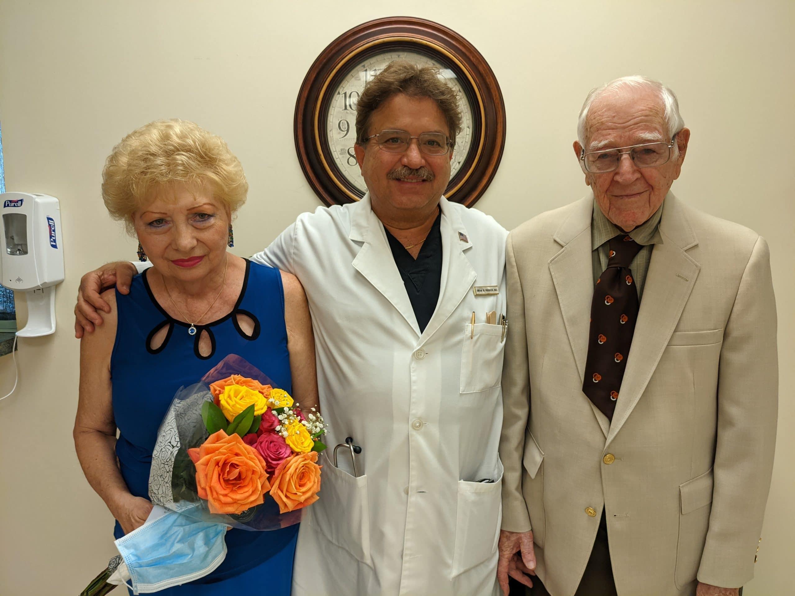 Lila Vogler, Dr. Brian Roebuck and Emil Vogler